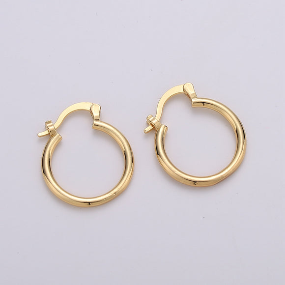 1 pair Tube Hoops Gold, 20mm Gold Hoops, Large Gold Hoop Earrings, Hollow Hoop Earrings, Chunky Hoops, Light Hoops for Every Day Wear