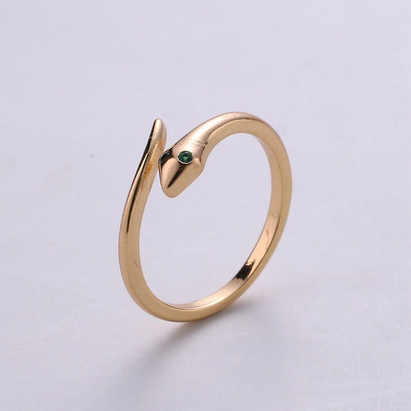 Snake Ring - Serpent Ring - Stackable Gold Ring - Minimalist Gold Ring - Thin Ring - Dainty Ring - Tiny Ring -Small Gold Ring -Delicate Ring