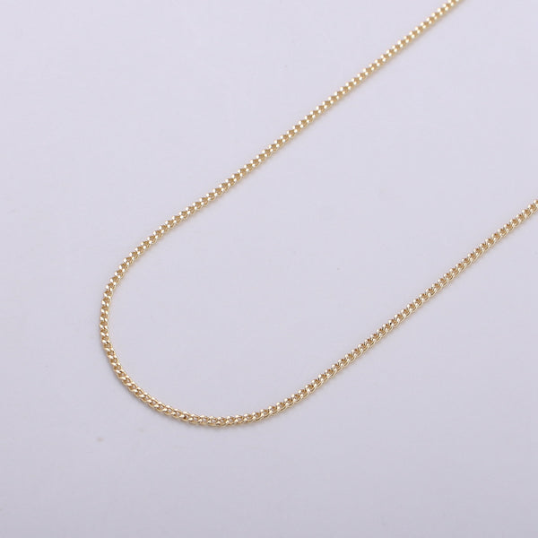 24K Gold Plated Curb Chain -1mm - Unfinished Chain by Yard #310