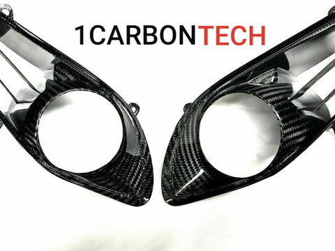 CARBON FIBER HEADLIGHT TRIM COVERS 09-11 YAMAHA R1