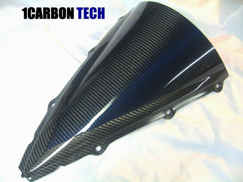 CARBON FIBER AND BLUE KEVLAR HYBRID WINDSCREEN 04-06 YAMAHA YZF R1