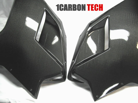 CARBON FIBER FRONT SIDE PANELS DUCATI 848 1098 1198