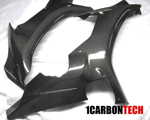 FULL CARBON FIBER FRONT SIDE PANELS L-R 2015-2020 YAMAHA YZF R1