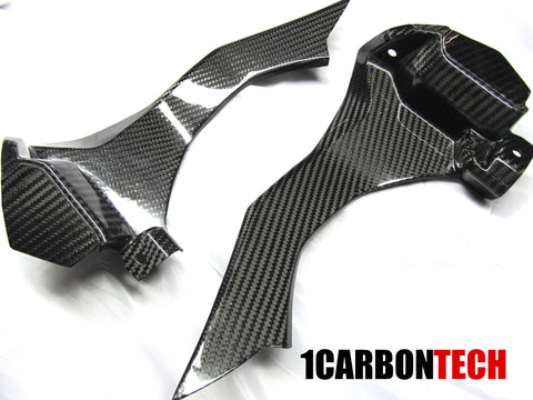 FULL CARBON FIBER CONSOLE AIR INTAKE COVERS L-R 2015-2020 YAMAHA YZF R1 BASE AND R1M