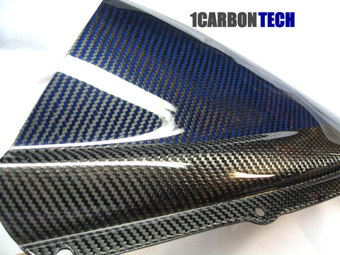 BLUE HYBRID KEVLAR CARBON FIBER WINDSCREEN / WINDSHIELD GSXR 600 / 750 2008 - 2010