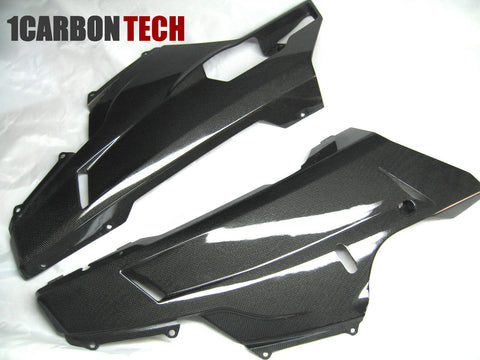 CARBON FIBER LOWER BELLY PANELS DUCATI 848 1098 1198