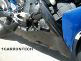 CARBON FIBER LOWER BELLY PANELS 04-06 YAMAHA YZF R1