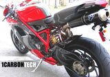 CARBON FIBER REAR FENDER HUGGER FOR TERMI AND 70MM FULL SYSTEM DUCATI 848 1098 1198