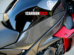 CARBON FIBER LOWER TANK PANELS 04-06 YAMAHA YZF R1