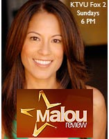 Malou Review Television Show on KTVU FOX 2 'Eyewear Trends' - March 13, 2011