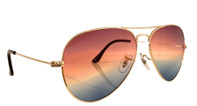 NINA CHANTELE x ALEXANDER DAAS 'CHI-TO-LA' Aviator Sunglasses