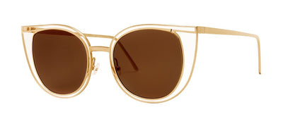 Thierry Lasry Eventually 900 / Solid Brown Tint 53-21-144 Sunglasses