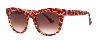 Thierry Lasry Jelly V541 Matte Red - Brown Vinatge / Brown Gradient 50-20-140 Sunglasses