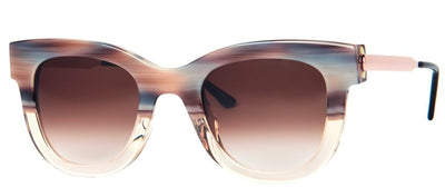 Thierry Lasry Sexxxy 340 Light Pink Horn and Clear with Gold 50-23-140 Sunglasses