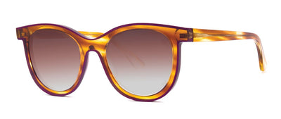 Thierry Lasry Vacancy 195 Honey Tortoise and Aubergine / Brown Gradient 53-19-140 Sunglasses
