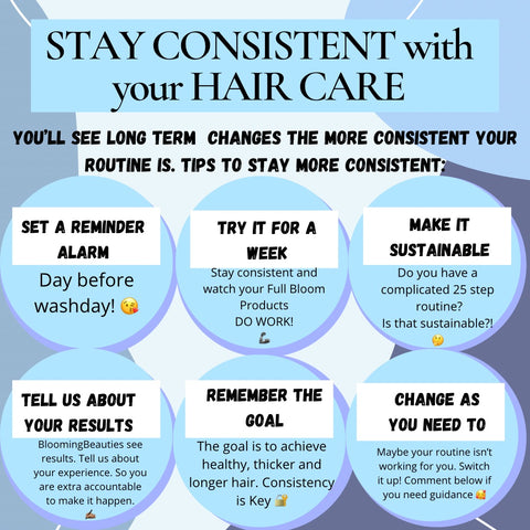 Consistent haircare routine