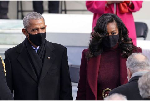 Former President Obama and First Lady Michelle Obama at Biden-Harris inauguration