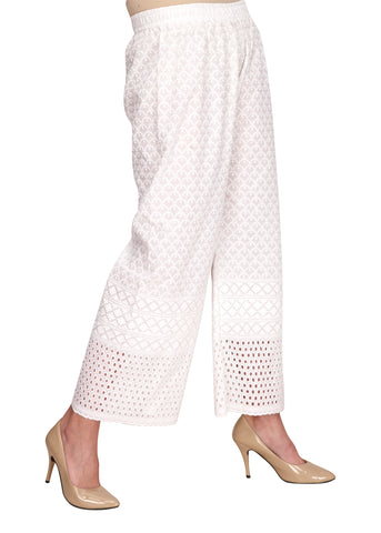 Summer Hakoba White Ethnic Pants