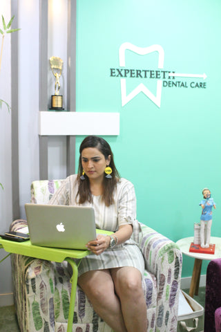 dental care work fashion stripes dress doctor bandra clinic