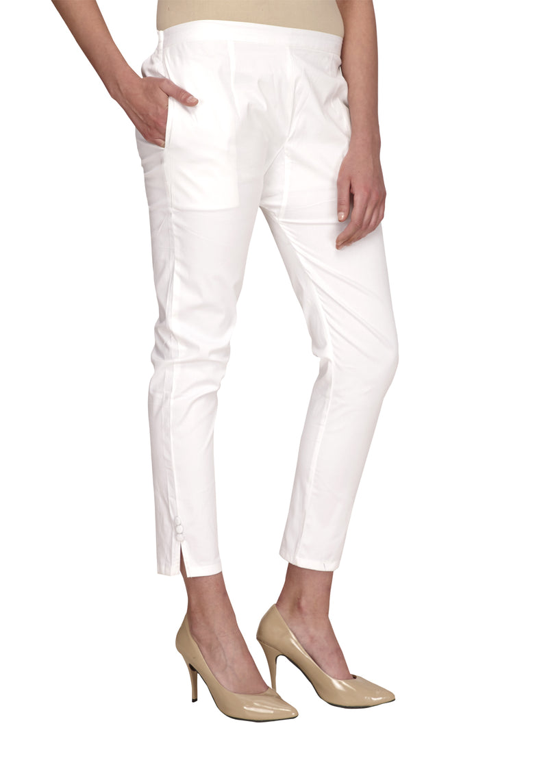 Slim fit white pants