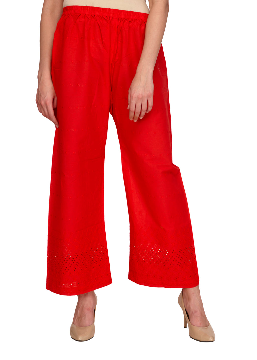 Red Hakoba Straight Fit Pants