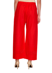 Red Hakoba Straight Fit Palazzo