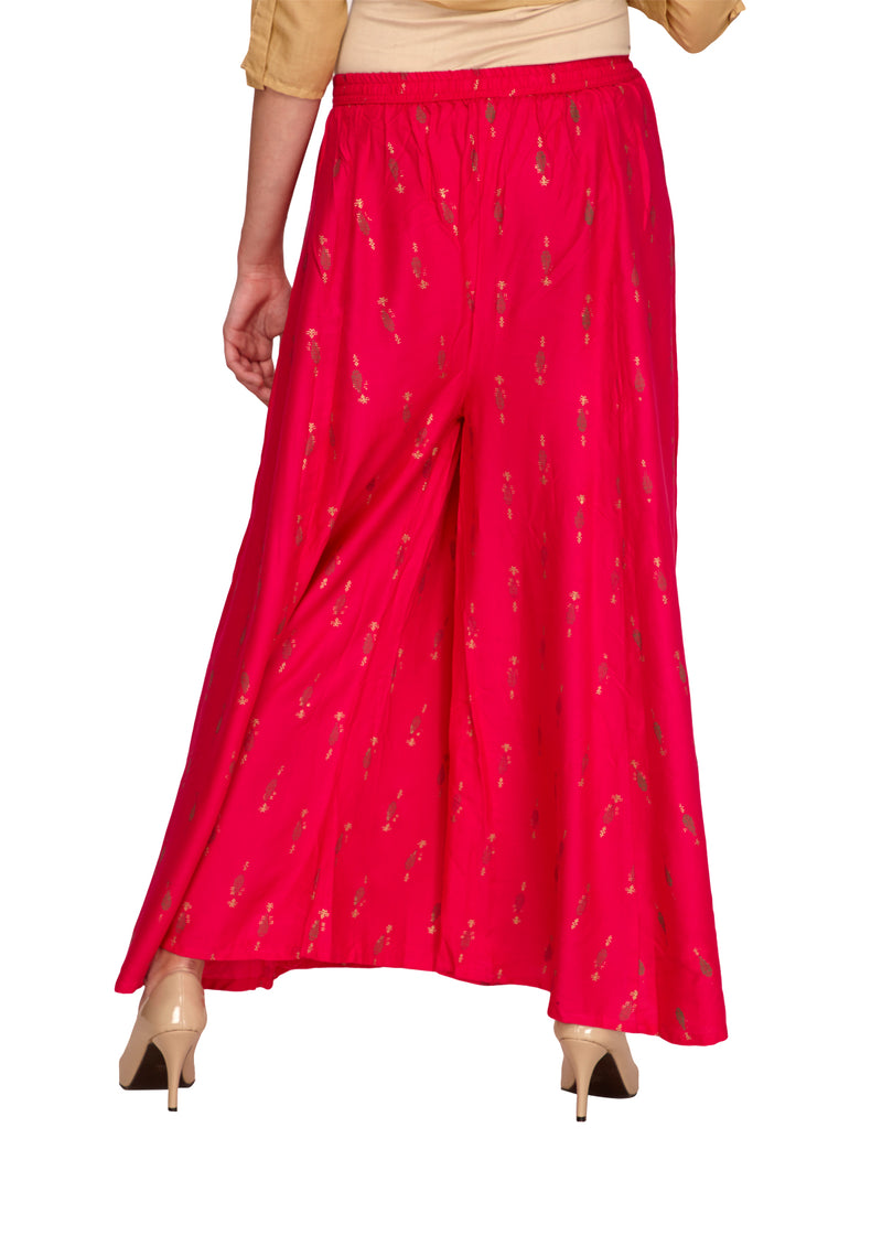 Red Pineapple Printed Palazzos