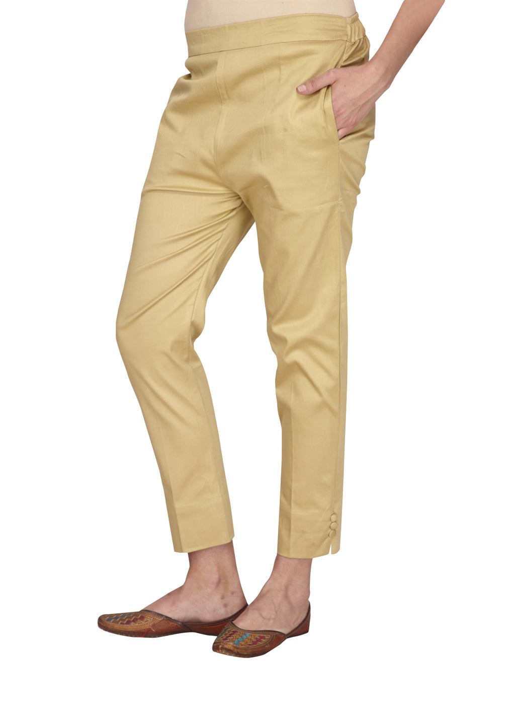 Slim fit coffee pants