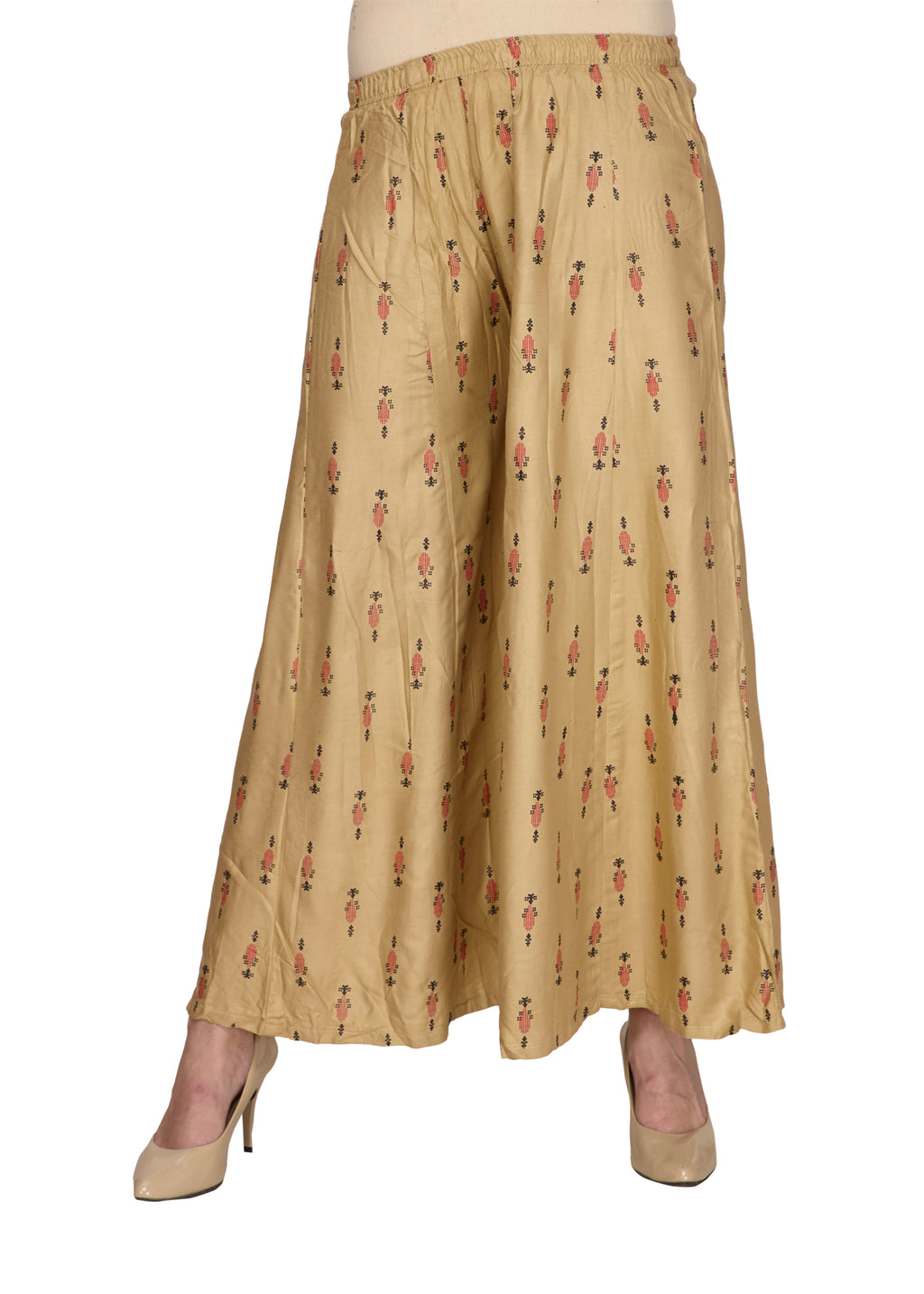 Tan Pineapple Printed Beach Pants