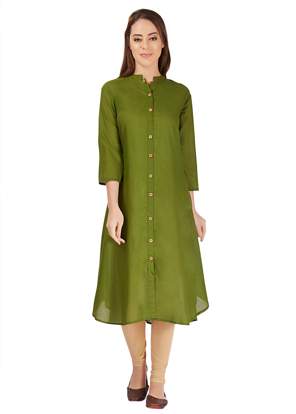 Everyday wear Cotton Kurta - Green