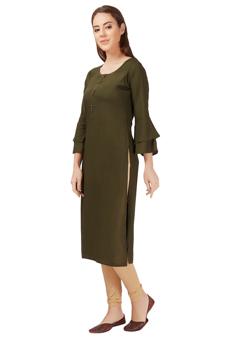 basic rayon kurta kurti women womens plain wardrobe essential bright work wear everyday basics