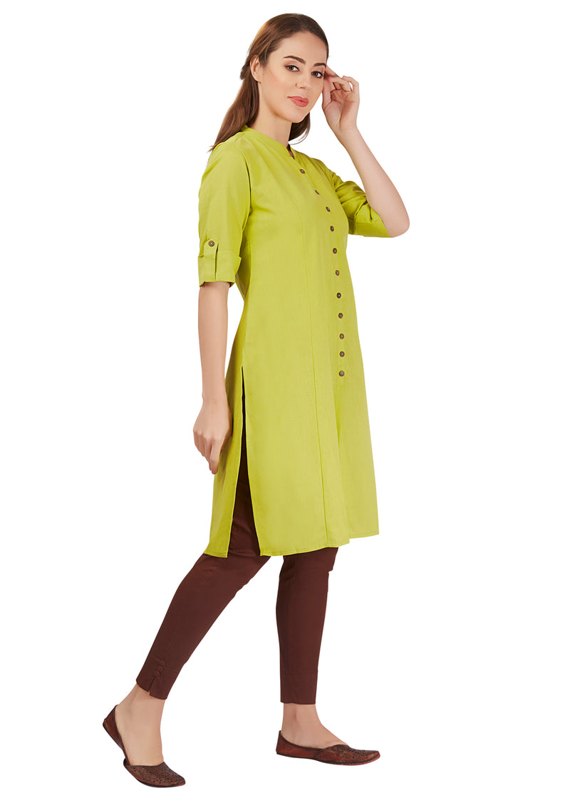 Basics - Olive Cotton Kurta