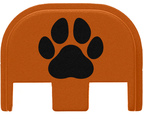 Glock Slide Cover Plate - Dog Paw