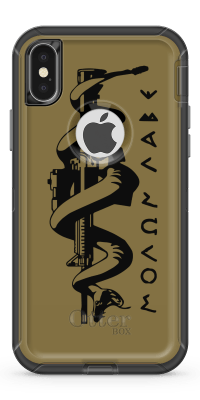 Molon Labe Snake - Iphone Otterbox Defender Case