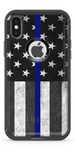 Thin Blue Flag - Iphone Otterbox Defender Case