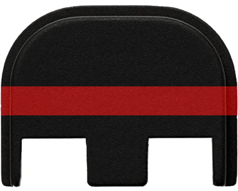 Glock Slide Cover Plate - Thin Red