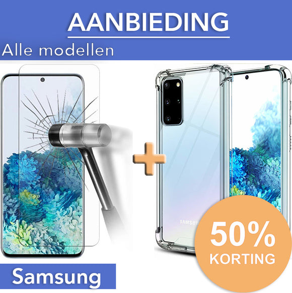 Screenprotector + Anti-Shock Hoesje Samsung