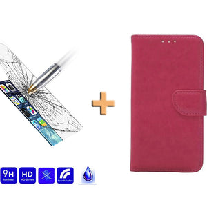 Screenprotector + Wallet Case iPhone
