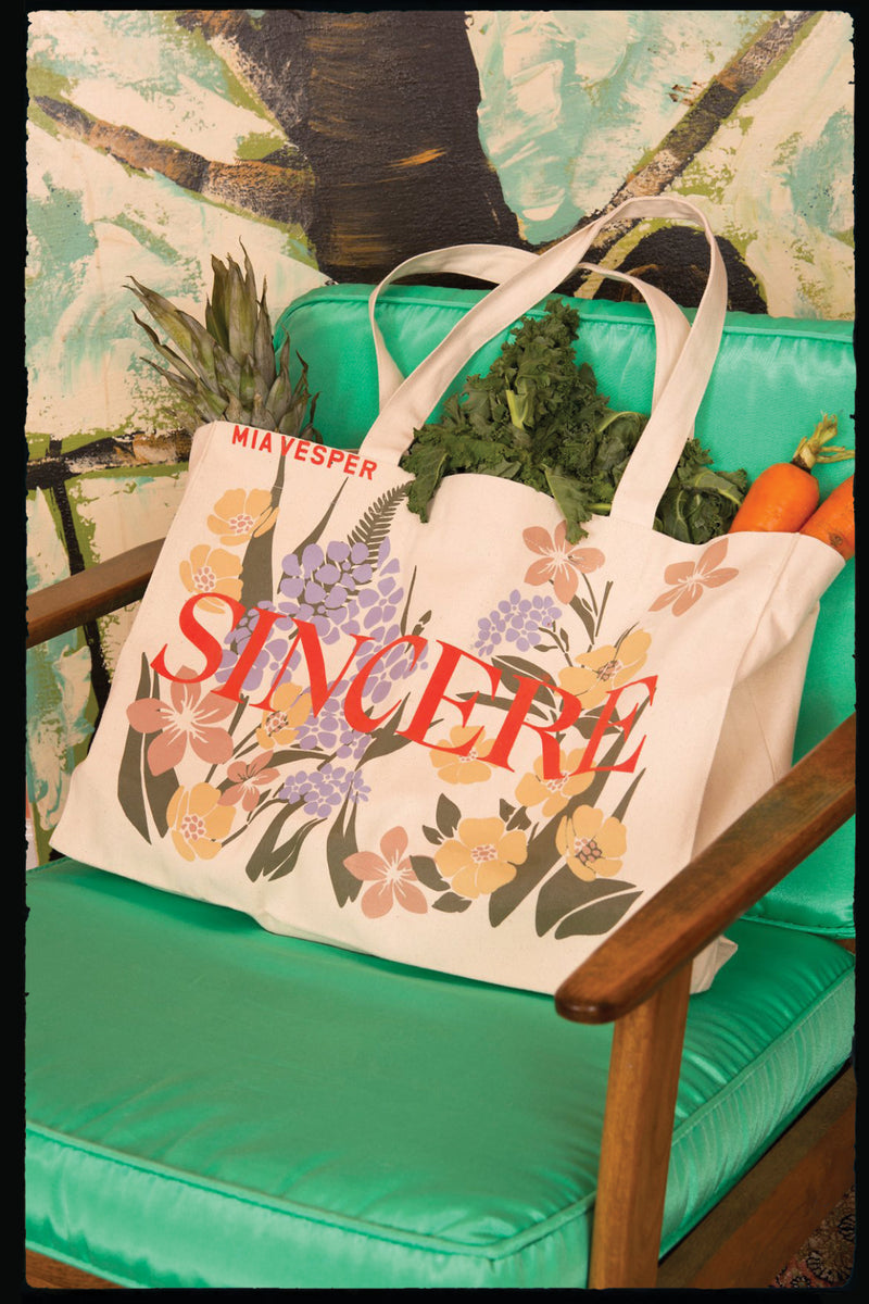 Sincere Canvas Utility Tote