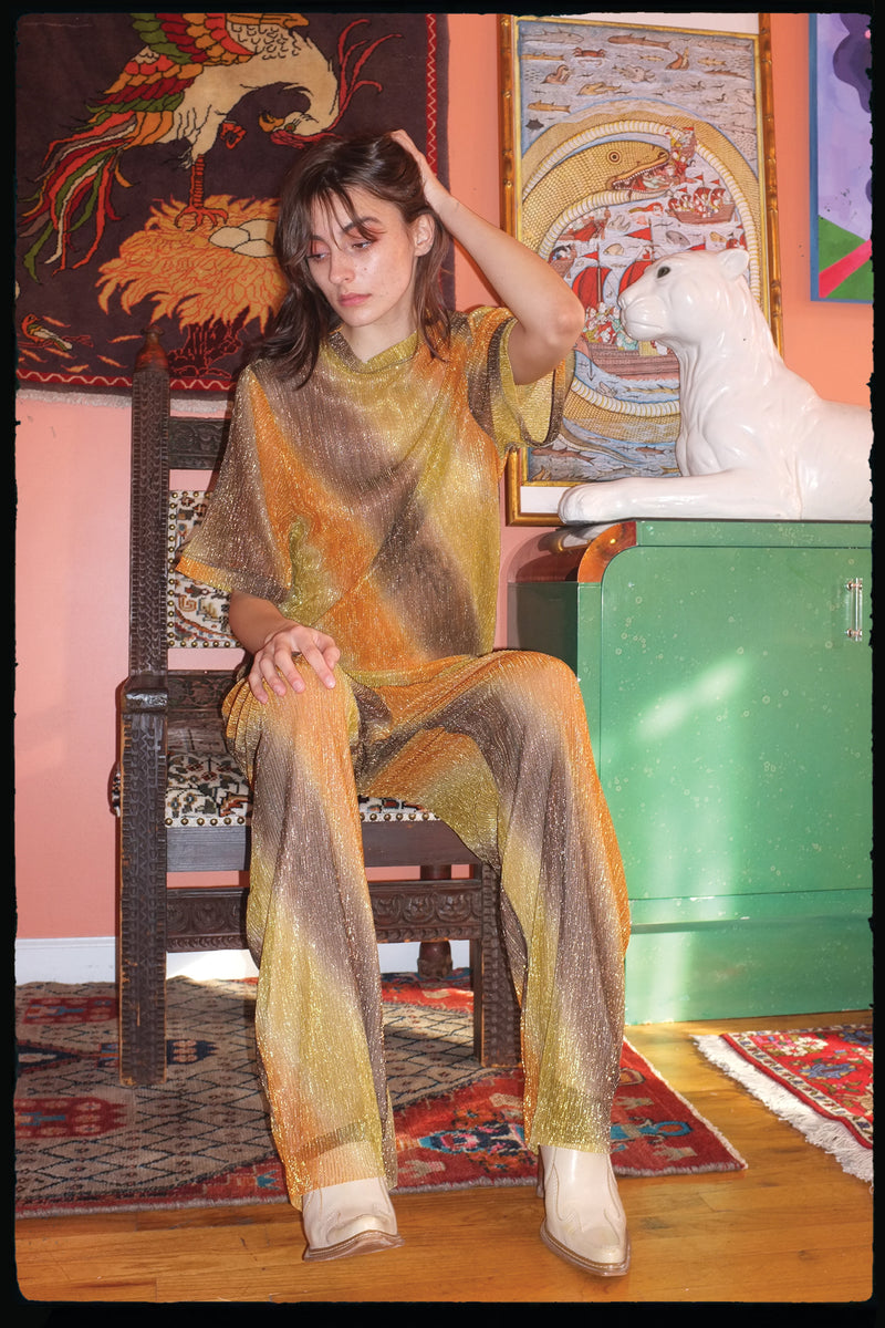Golden Skunk Pleated Pant Unisex