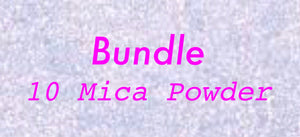 10 Random Mica Powder Bundle