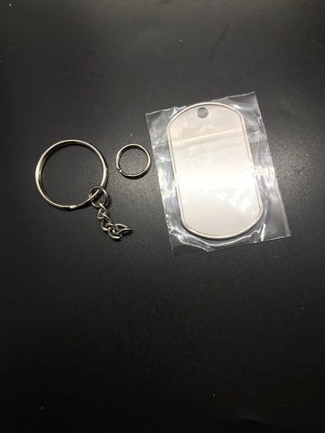 Dog tag key chain bundle ($2.00)