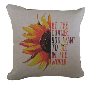 BE THE CHANGE PILLOW