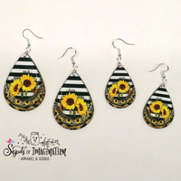 Earrings - Sunflowers, Stripes and Leopard
