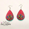 Earrings - Flowers and Butterfly