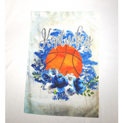 KENTUCKY WITH BASKETBALL BOHO FLOWERS GARDEN FLAG