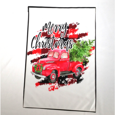 MERRY CHRISTMAS WITH TRUCK FLAG