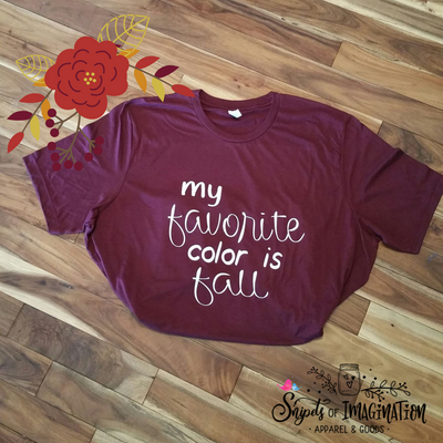 Shirt - Short Sleeve - T-Shirt - My Favorite Color is Fall
