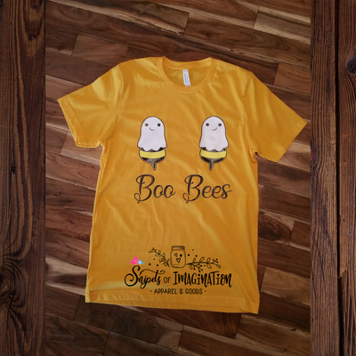Shirt - Short Sleeve T-Shirt - Boo Bees with Ghost Bees