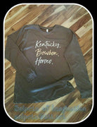 Shirt - Long Sleeve - Kentucky Bourbon Horses